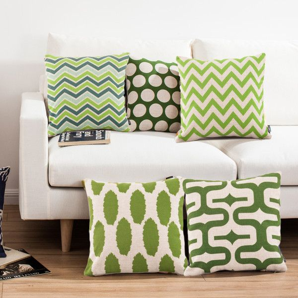 Mediterranean Green Sofa Office Linen Cushion Cover Pillow Cover f... ($13) ❤ liked on Polyvore featuring home, home decor, throw pillows, array0xbd1e8a0, green home accessories, green throw pillows, green toss pillows, green home decor and green accent pillows