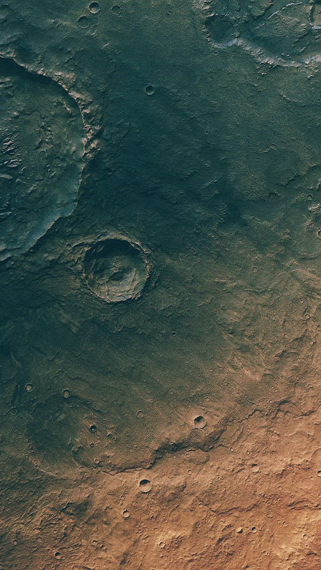 Mars Asteroid Impact Crates iPhone 5 Wallpaper