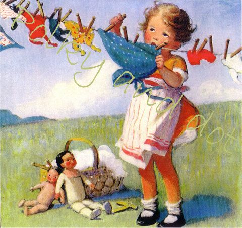 Dolly Laundry Day, Bessie Pease Gutmann