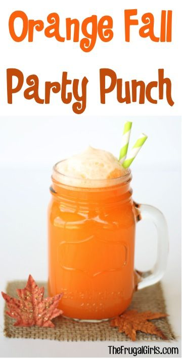 Orange Fall Party Punch Recipe!:
