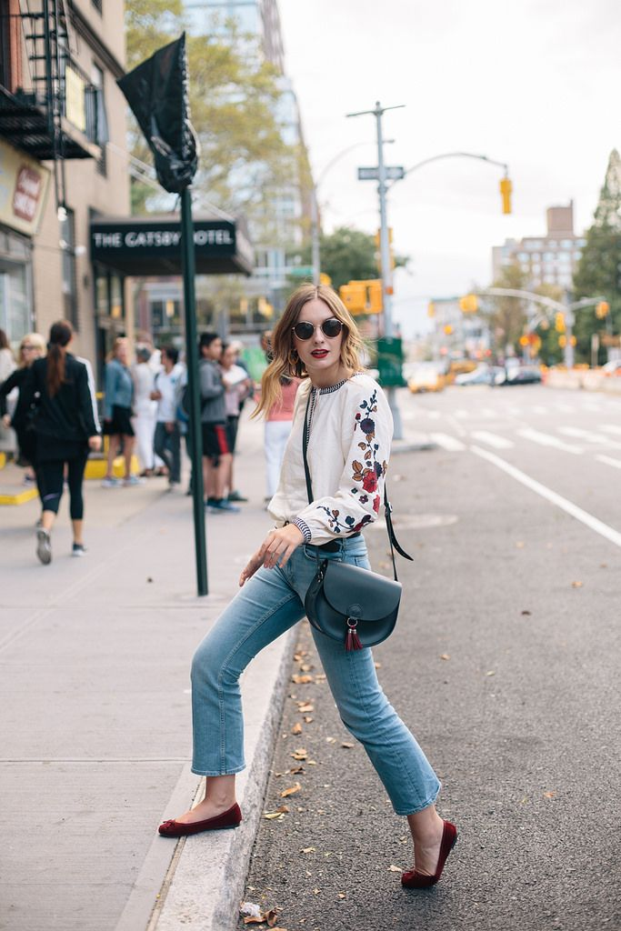 (Glasses: Madewell , Blouse: & Other Stories , Jeans: & Other Stories , Belt: Madewell , Bag: C/O Cambridge Satchel Company , Shoe...