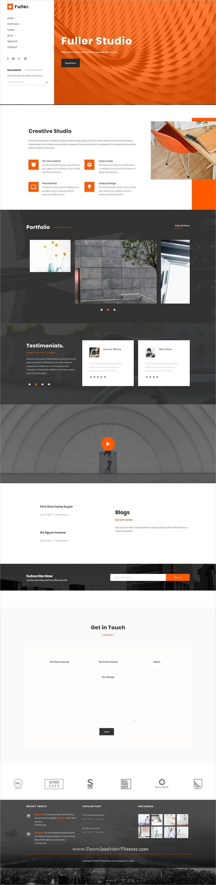 optimal resume login%0A Fuller  Creative Portfolio  Resume  u     Agency WordPress Theme