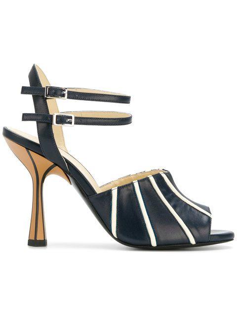 76c8dc429732 Marni contrast stripe sandals