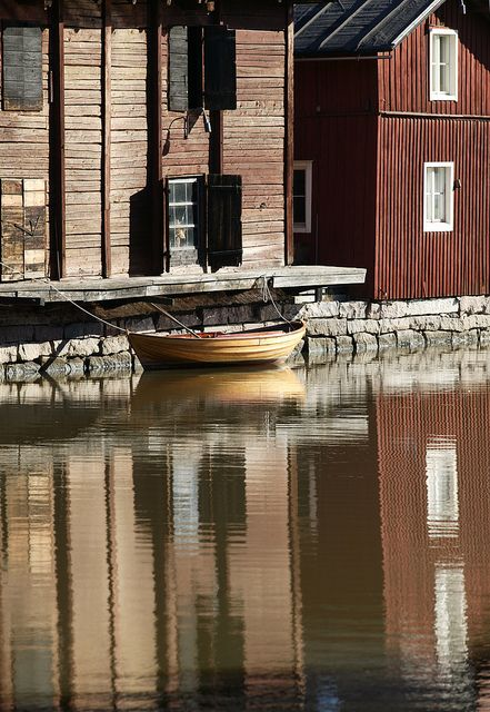 Shorehouses in Old Porvoo