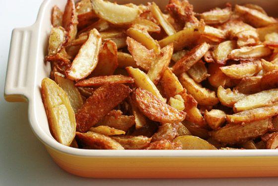 Batatas assadas com azeite alho. Hum...