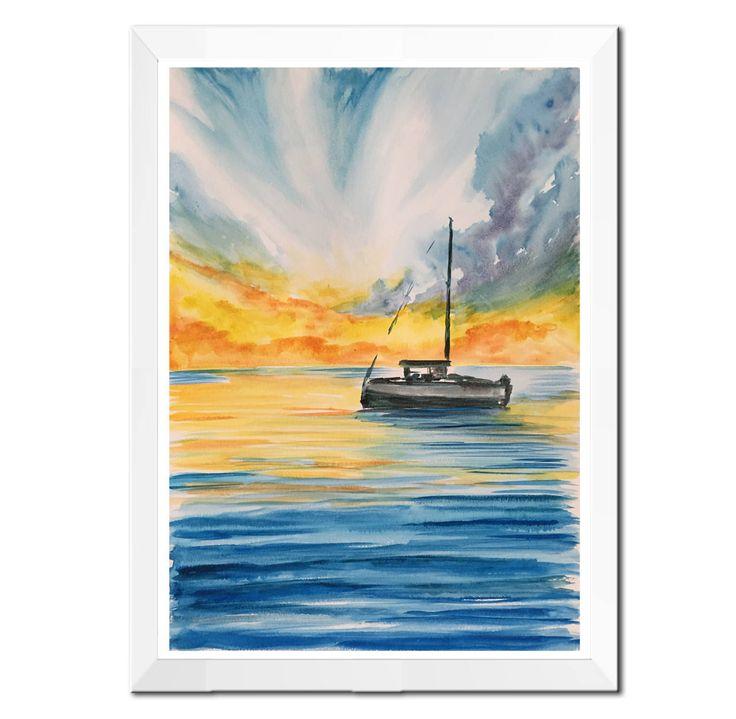Estremamente Oltre 25 fantastiche idee su Pittura di barca su Pinterest | Arte  VX97