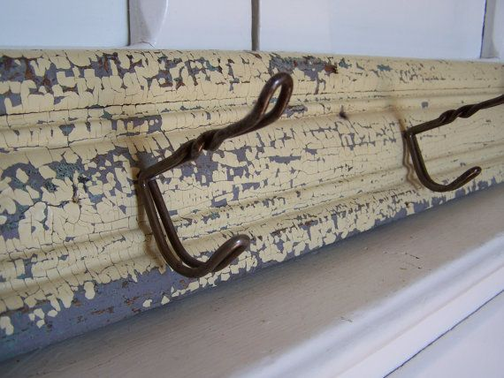 Antique Farmhouse Wall Hook Rack by QuirkyAndQuaint on Etsy, $35.00