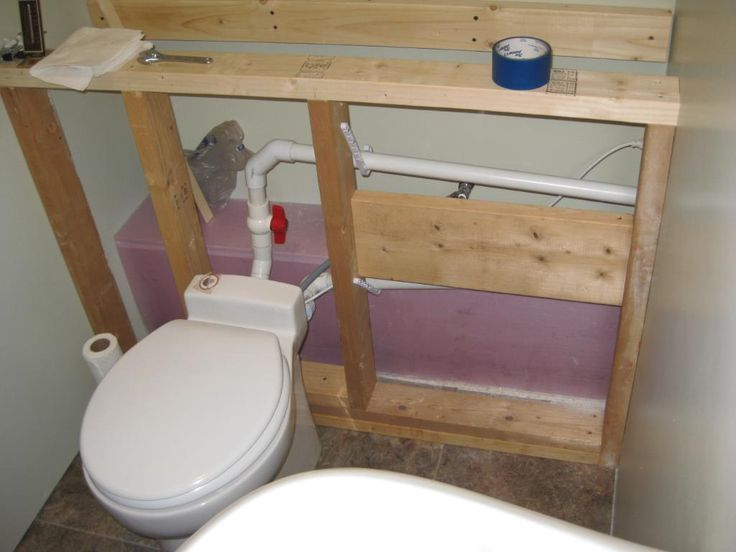 Lighting Basement Washroom Stairs: Saniflo Sanicompact One Piece Toilet With Macerator Photo