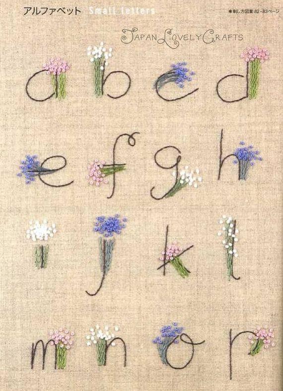 Stitch Sampler Patterns - Japanese Hand Embroidery Designs, Alphabet, Floral…