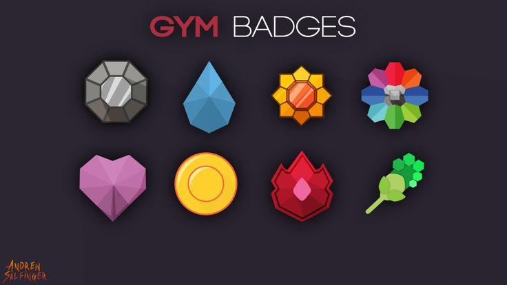 Have you got them all? : Pokemon Gym Badges by Andrew Salfinger Been working on this project for three days in my past time…