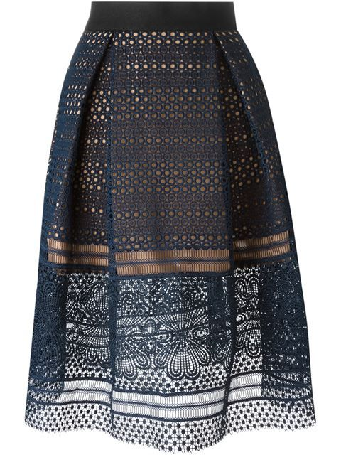 Self-Portrait 'Sofia' skirt
