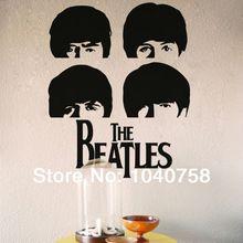 Beatles rock muziek poster muurstickers decoratie adesivo de parede londen vinyl posters voor wall art decal behang(China (Mainland))