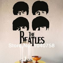 Beatles rock muziek poster muurstickers decoratie adesivo de parede londen vinyl posters voor wall art decal behang(China (Mainland))