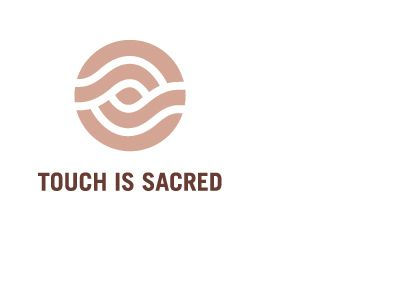 Touch is Sacred - Massage Therapy logo & business card design