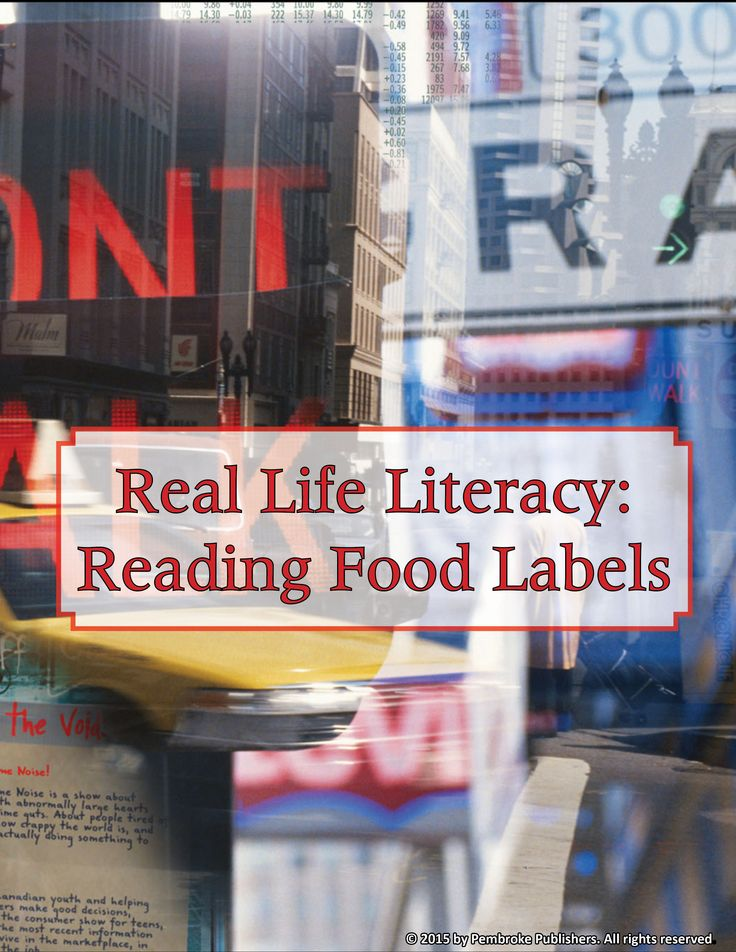 We all know that reading comprehension is key when it comes to getting the most from novels, stories, and content-area texts. But what about texts we encounter everyday? Can your students decipher food labels accurately? This lesson, with activities, from Real Life Literacy, will make reading these complex texts a snap!
