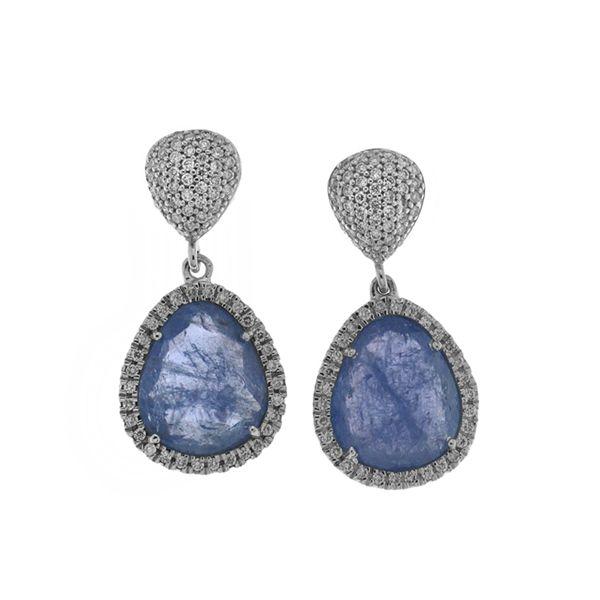 Natural Tanzanite Drop Earrings