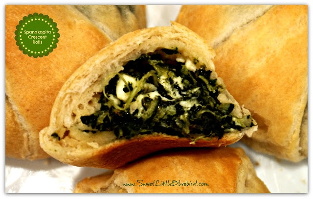 YEP, I COULD EAT THESE FOR DINNER!!! Spanakopita Crescent Rolls