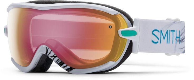 Smith Virtue Goggles  white feathers/red sensor mirror
