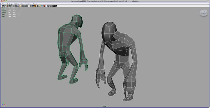 Cartoon Zombie lowpoly mesh by ~CarlesTenorio on deviantART
