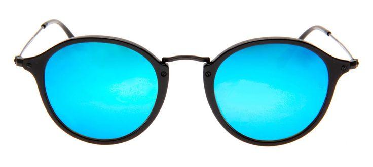 Ray Ban Redondo - Lente Espelhada Azul