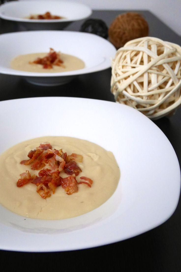 Crema di fagioli cannellini con pancetta croccante