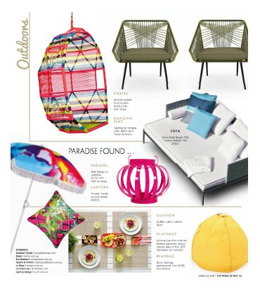 The weather resistant and intricately patterned  Alicante Outdoor Armchair as featured by The Weekly Review