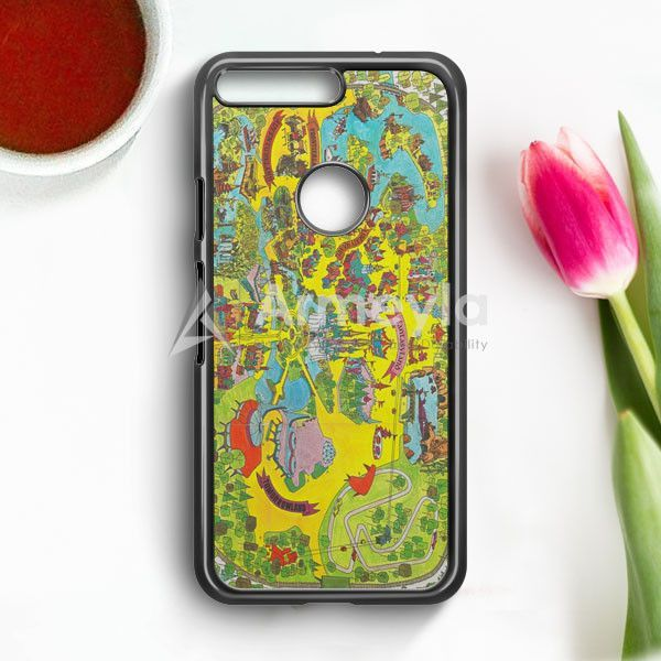 Vintage Walt Disney World Map Fantasyland 1971 Google Pixel Case | armeyla.com