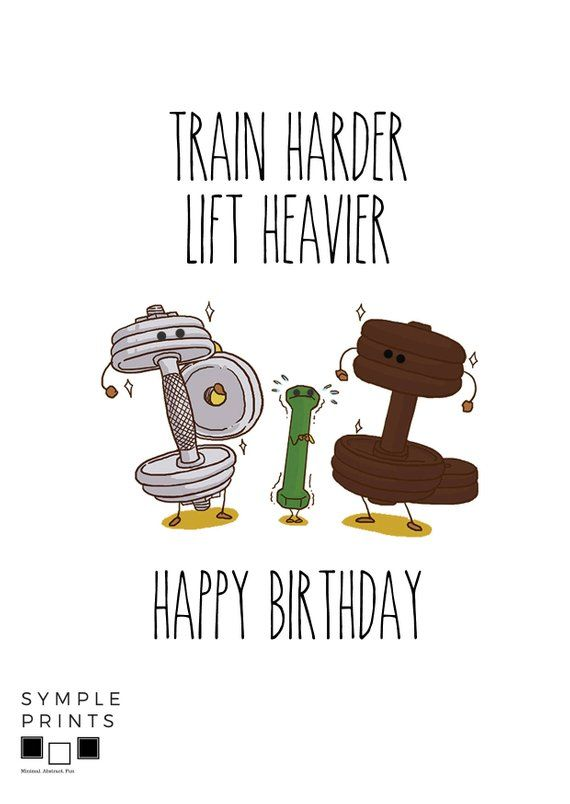 Printable Crossfit Birthday Card For Workout Fitness Girlfriend