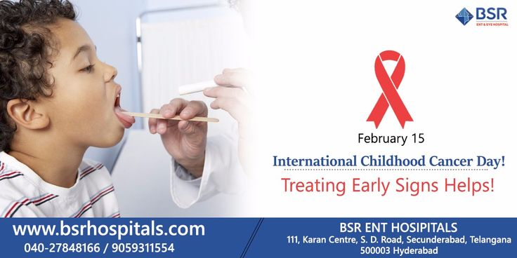 #International_Childhood_Cancer_Day Incidence of head and neck tumors in children is relatively rare. Lymphomas are more common, nasopharyngeal carcinoma, and other types like thyroid carcinomas. Most often symptoms or signs are not significant but morbidity is a sign. Get your child checked at ENT specialist for ENTexamination. Call BSR Hospital for the right solution. #Head_Neck_Cancers #ENT_Specialist #ENT_Hospital #BSR_Hospitals #Head_Neck_Treatment #Childhood_Cancers