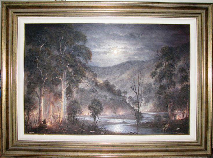 John Dollery original oil titlted  Ophir . Australia