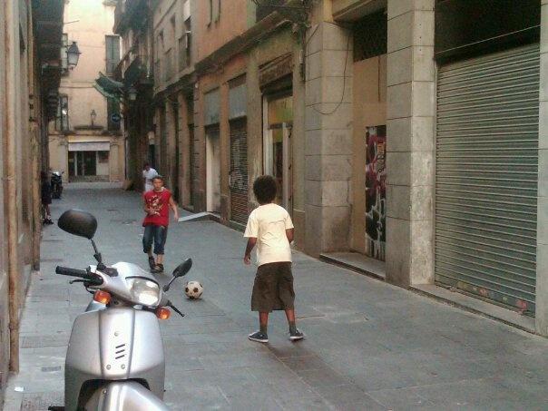 backstreets futbol in Barca...classic!