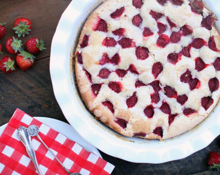 Summery Strawberry Cake