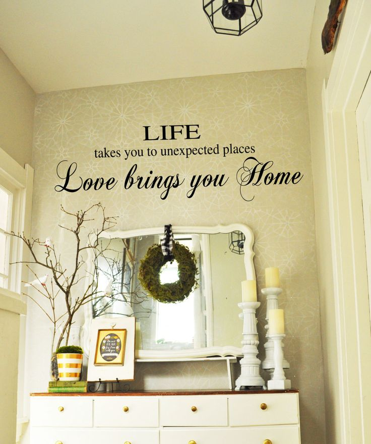 Best Bedroom Wall Decals Images On Pinterest Bedroom Kids - Custom vinyl wall decals sayings for family roomitems similar to entry wall quote family wall decals home family