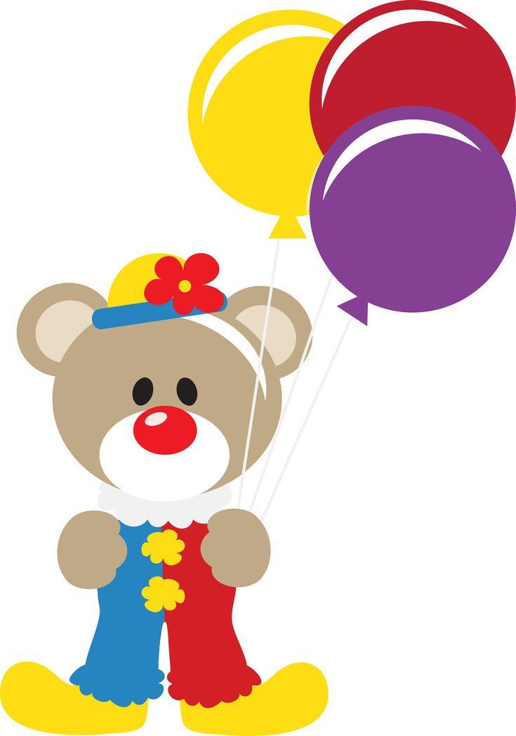 Clown Bear SVG
