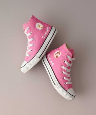 Girls Personalized Disney Princess High-Top Chuck Taylors® - exclusively ours - Customize Chuck Taylors® with her favorite Disney Princess and sidekick.