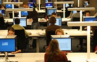 Full digital workplaces with wireless internet at the University Library in Leiden. So you can also bring your own laptop.