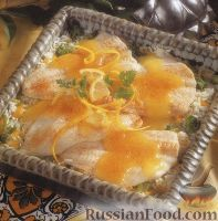 Фото к рецепту: Камбала, запеченная с рисом в лимонном соусе  http://www.russianfood.com/recipes/recipe.php?rid=117116