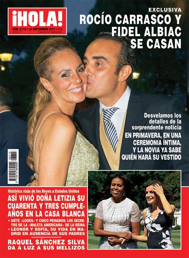Exclusiva en ¡HOLA!, Rocío Carrasco y Fidel Albiac se casan