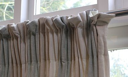 Informal Curtain On Deep Pinch Pleat Tape Curtain Styles