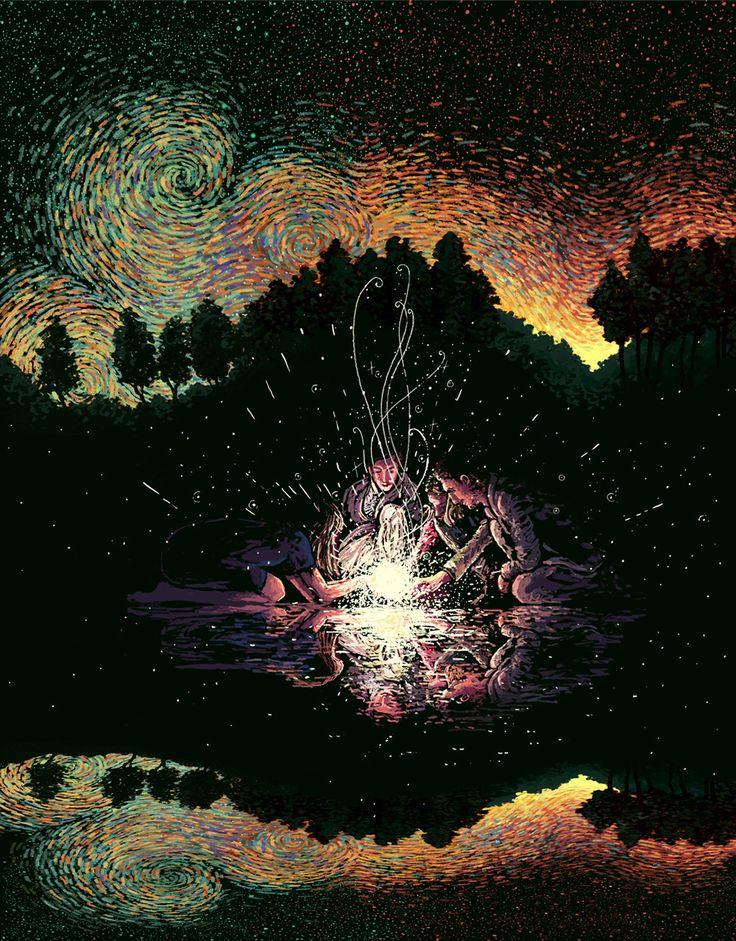O artista e ilustrador James R. Eadsusa cor e movimento para criar ilustrações de pessoas e da natureza. Inspirado pelos céus de Van Gogh seu estilo apresenta a conexão humana e o mundo natural.    Eads vive e Los Angeles e seu estúdio é aberto a...