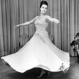 Silvana Pampanini wearing a gown by Sorelle Fontana (1955)