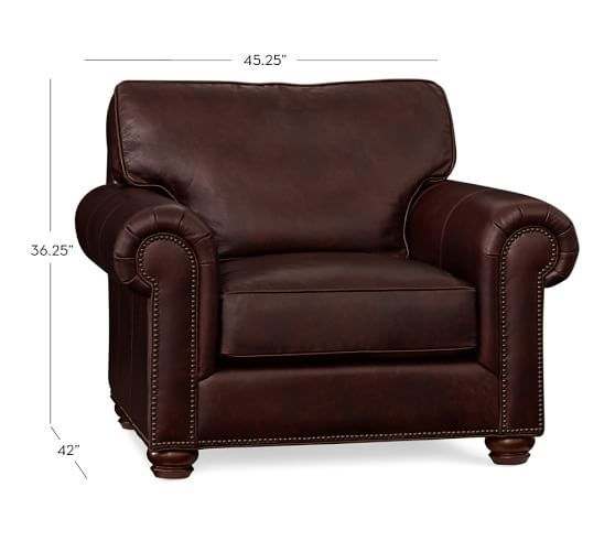 Webster Leather Armchair #potterybarn