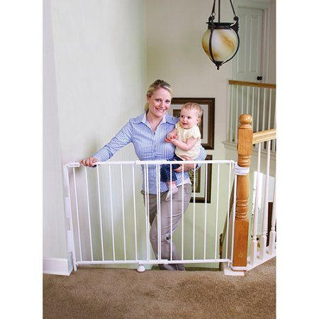 Regalo Expandable Top of Stairs Baby Gate, Includes Mounting Kit, White