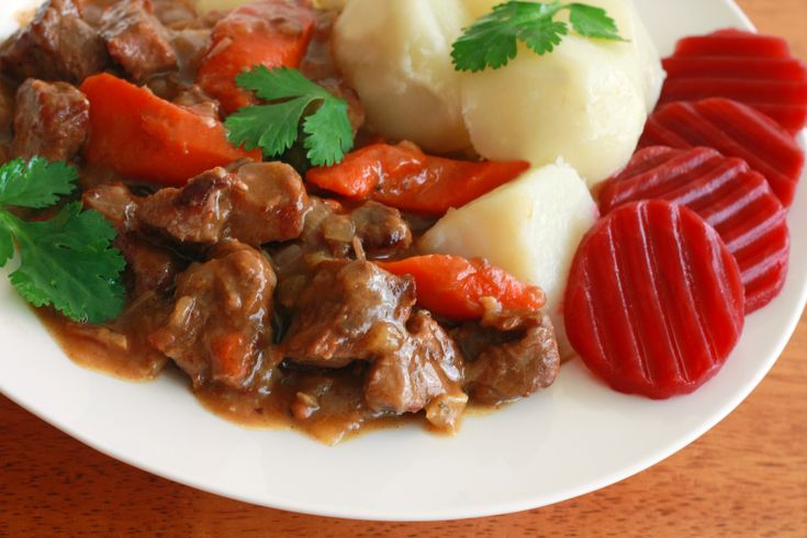 Kalops (Swedish Beef Stew):  Kalops is a traditional Swedish beef stew that is slowly cooked with vegetables and spices, most not...[read more at Food Frenzy]