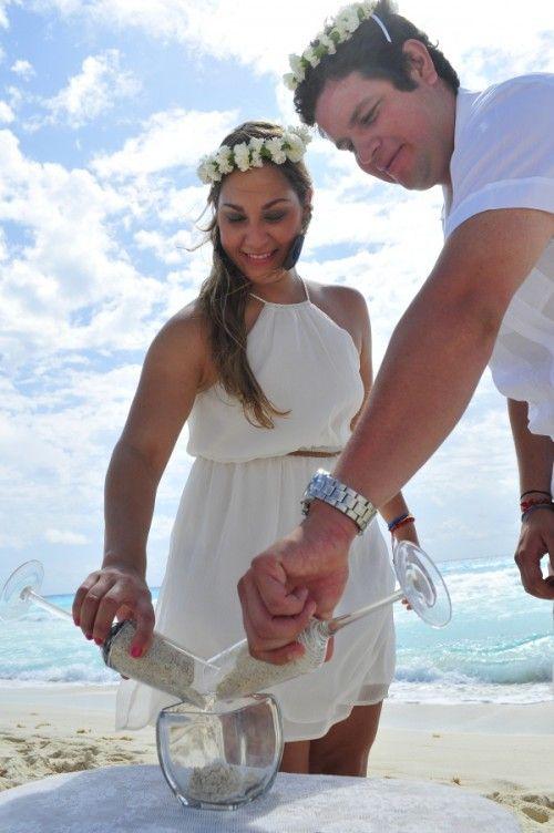 #PandoraNovia #PandoraRD Simbolica ceremonia de arena, representando la union en nuestra nueva vida de pareja