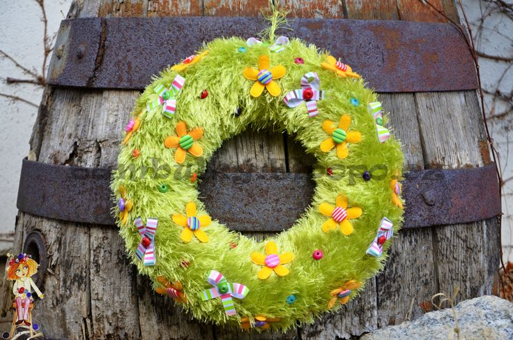 Easter Wreath - detailed view