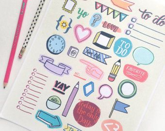 Printable Planner Doodles - Instant Download - Organization, Journaling, Filofax, Planner, Notebook
