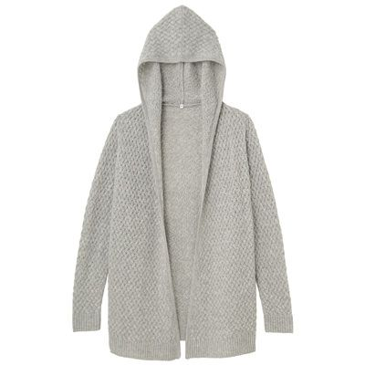 Newzealand Wool Hooded Cardigan
