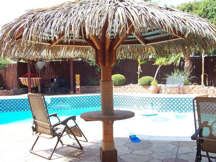 My Thatch Roof Palapa Umbrella Synthetic