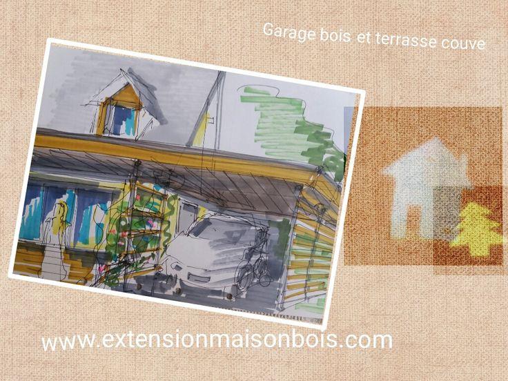 Les 25 meilleures id es de la cat gorie garage bois toit for Construire un garage en bois toit plat